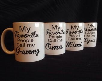 Grandparent mug, Parent mug, Mimi, Yaya, Nana, Papa, Gigi, Nona, papa, Grandpa, Opa