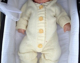 Knitted baby jumpsuit, romper, hypoallergenic, from newborn to 2 years