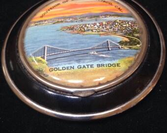Vintage 30's souvenir Golden Gate, SF compact