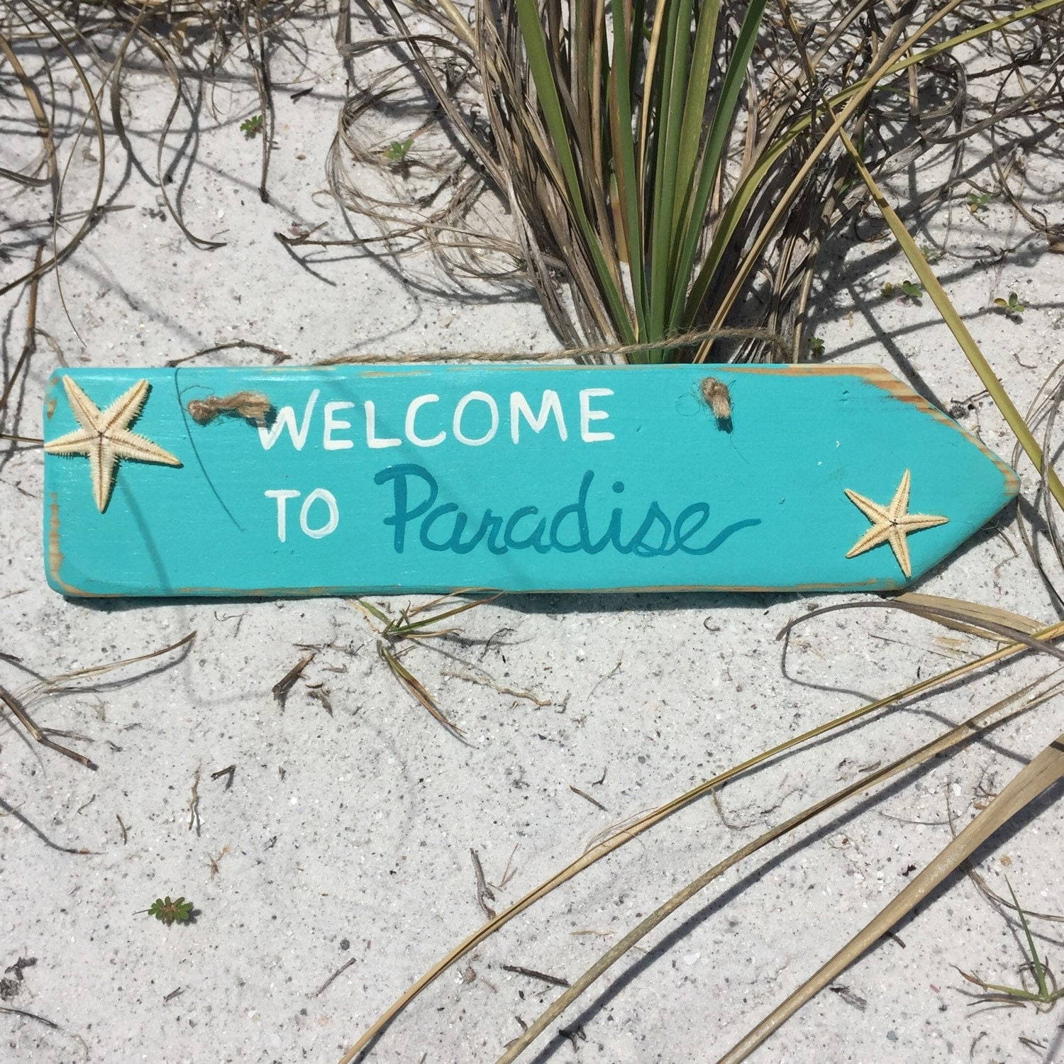 Welcome To Our Beach House Sign: Beach Welcome Sign Wooden Arrow Beach Signs Beach Home Decor