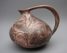 Ruscha 313 Fat lava vase West German ceramics handled vase Kurt Tschörner modernist