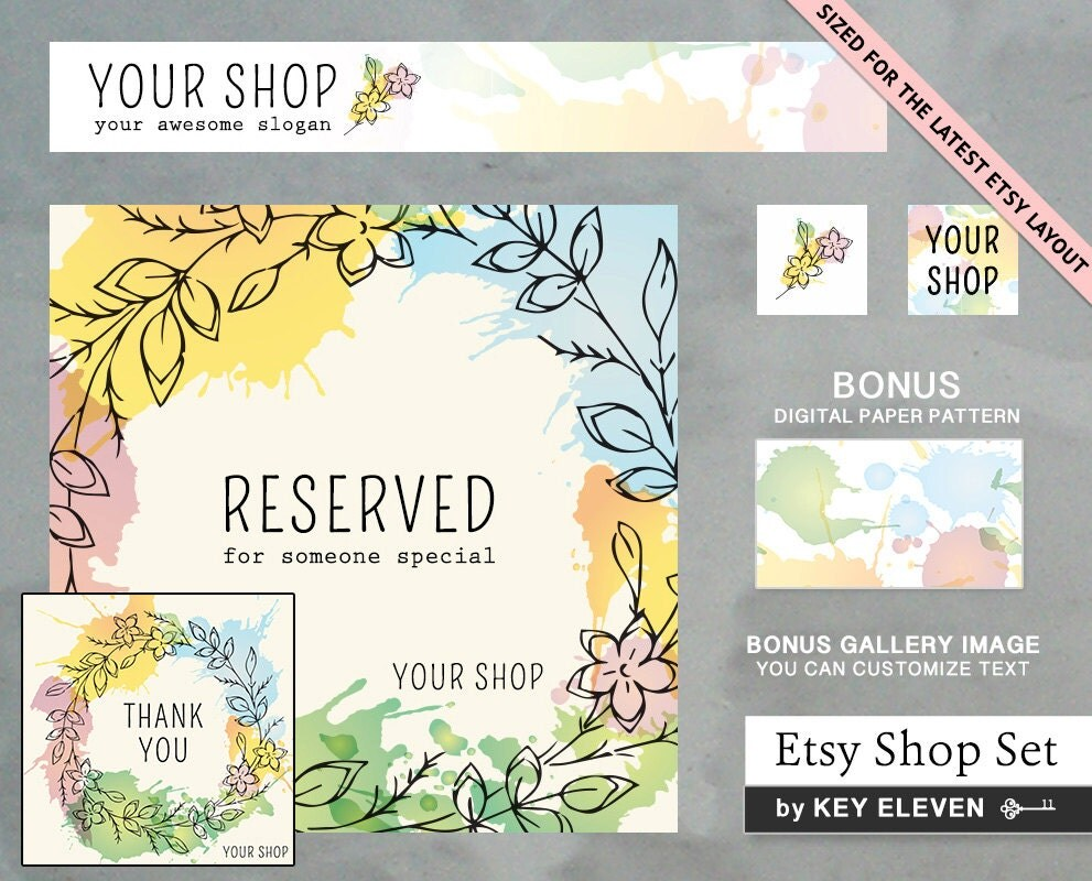 how to make an etsy shop banner in photoshop