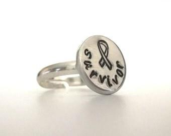Cancer awareness ring