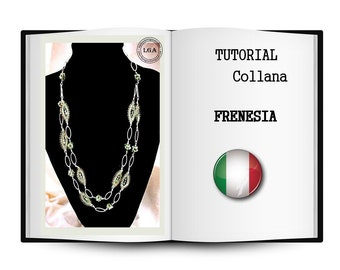 Schema necklace frenzy. Green necklace. Beaded necklace tutorial