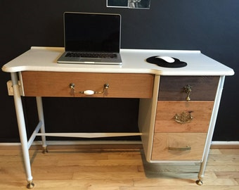 Upcycled Desk With Drawers,Writing Desk,Office Desk