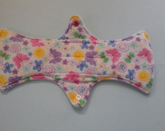 "12"" moderate purple butterfly cloth sanitary pad"