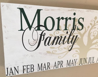 Important Dates Sign, Family birthday board-Celebration board-Although we may be far apart..., Anniversary Gift,Birthday Gift, Wood Sign