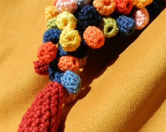 "Knitted jewelery ""Red drop"""