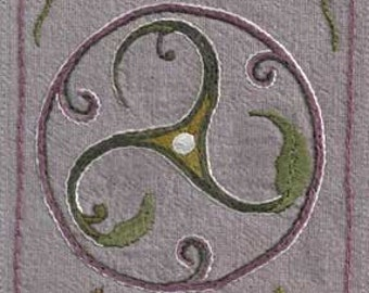 Celtic Triskele Embroidery ~ free shipping