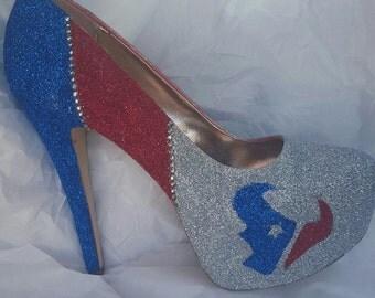 Texan Glitter heels handmade
