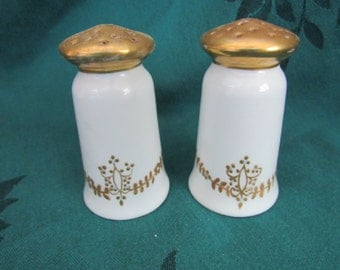 Favorite Bavaria Gold and White Salt and Pepper Shakers