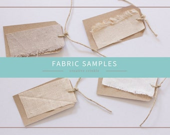 Hemp, Organic Cotton and Linen Fabric Samples