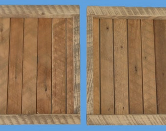 "2 reclaimed wood trays,lath strip trays from demolished building,13"" by 11"""