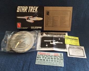 Vintage Star Trek USS Enterprise Model Kit