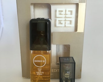 Celebrity Owned Old Formula Limited Edition Boxed Givenchy III EDT 2 oz Spray Perfume, Givenchy III Eau De Toilette, Vintage Perfume