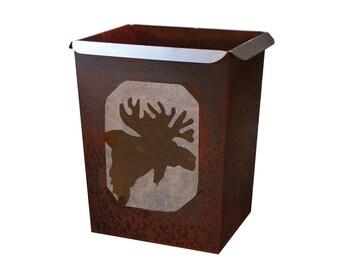 Moose Waste Basket/ Garbage Can