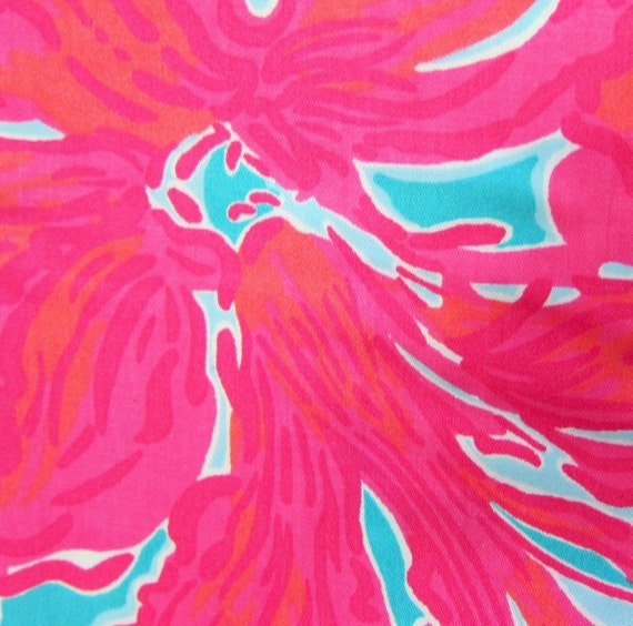 1 Yard 36 Quot X 56 Quot Lilly Pulitzer Cotton Sateen Fabric Quot Sea