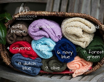 Stretch Knit Newborn Wraps, Ready to Ship, Many Colors, Baby Prop