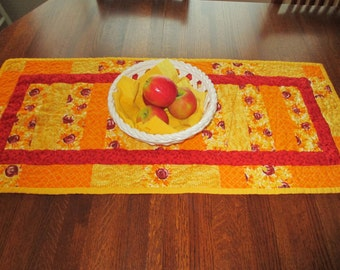 Yellow and Orange Sunflower Table Runner