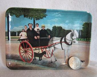 Melamine tip tray, souvenir tray, trinket, change holder, decorative tray, coaster, Italy, Rousseau, hotel tray, coin tray, jewelry tray