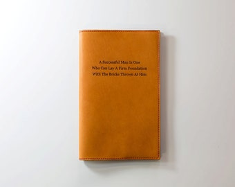 Personalized Leather Journal Cover for Moleskine Cahier Journal