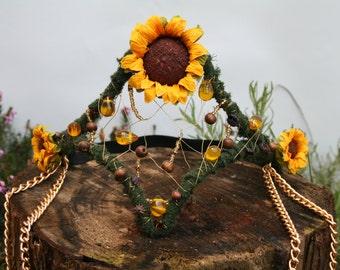Sunflower head dress