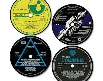 Pink Floyd Vinyl Record Label Coasters (Set of 4)