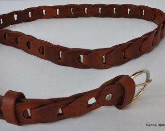 Genuine leather switch belt, brown leather fashion belt , Holiday gift belt, real leather belt , handmade leather belt