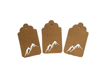 Mountain Peaks Gift Tags
