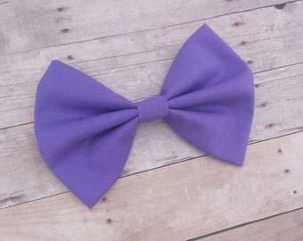 Dark Pastel Purple Solid Fabric Hair Bow Clip / Purple Hair Bow / Pastel Purple Bow Clip / Purple Hair Clip / Lilac Hair Bow / Purple Clip