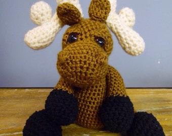 Moose-stuffed moose-kids stuffed animal-moose plushie