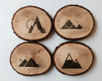 Wooden Coasters: Mountains