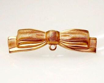 1pcs--Ribbons, Raw Brass, 38x10mm (B41-18)