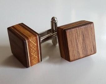 Handmade wooden cufflinks