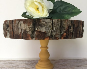 "Wooden Cupcake Stand 7-10"", Cake Stand, Wooden Tree Slab, Party Decor,Dessert Table Decor,Wedding Cake Stand, CakePop Stand, Rustic Country"
