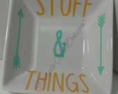 Ring Dish. Stuff and Things Ring Dish. The Walking Dead Inspired. Rick Grimes. Stuff and Things.