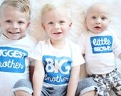 Big Brother Shirt - Big Brother Tee - Big Brother Outfit - Bigger Brother Shirt - Pregnancy Announcement - Baby Shower Gift -