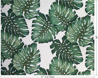 Fabric - Monstera Leaf Cotton Twill - One metre
