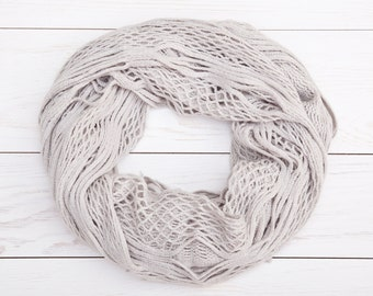 Cute Gray Scarf, Lace Scarf, bridesmaid gift, girlfriend gift, Beautiful Gray Scarf, Summer Scarves, Girlfriend Gift, Mom Gift