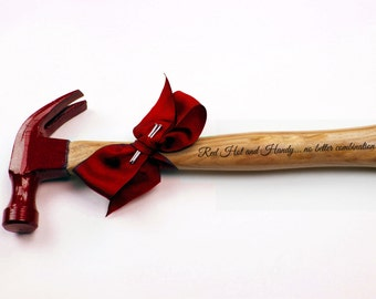 Engraved Hammer, Gift Idea For Him, Father's Day Hammer, Personalized Hammers, Anniversary Gift For Him,  Engraved Tool