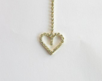 IndianGold Heart Bollywood Tikka/Tika/Indian Matha Tika/Indian Headpiece/Headpiece Jewelry/Mexican Tikka/Small Tikka/Headpiece tikka Jewelry