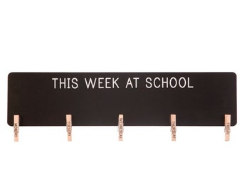 This Week at School Chalkboard with Pegs - Suitable for use with Liquid Chalk Pens