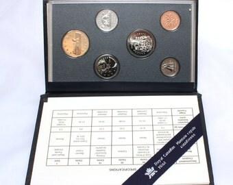 1995, Canadian Coins, Specimen Set, Numismatic, Collectibles, Numismatist, Vintage Coins