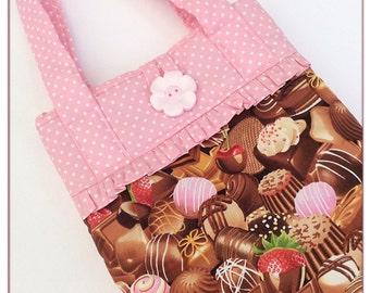 Tablet bag  / iPad sleeve / bag with handles / girls iPad bag / chocolate / iPad case / iPad air 5 bag / padded iPad bag / novelty bag