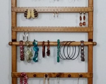 Jewelry Holder wall Mounted, Display, Jewelry Display, Jewelry Stand, Jewelry Rack, Jewelry Organizer, Bracelet Display, Earring Holder