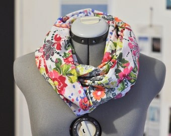Infinity scarf white scarf to colorful patterns