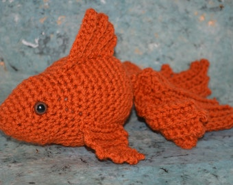 Crochet Amigurumi Koi Goldfish Fish Crocheted