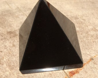 Natural Obsidian Pyramid