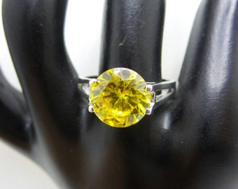 Citrine Sterling Silver ring, size 8.75