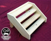 wooden stair cupcake stand for capacity of 24 cupcakes